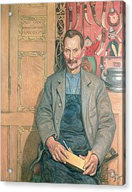 Hans Arnbom The Carpenter Acrylic Print by Carl Larsson