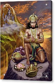 Hanuman Receives Lord Shiva's Blessings Acrylic Print