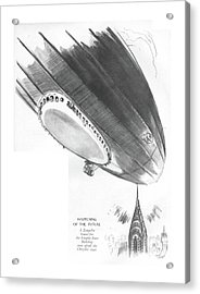 Happening Of The Future A Zeppelin Bound Acrylic Print by Garrett Price
