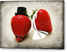 Happily Berry After Acrylic Print by Andee Design