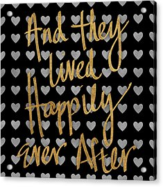 Happily Ever After Pattern Acrylic Print by South Social Studio