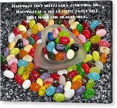 Happiness Is Made Of Tiny Bits Acrylic Print by Ausra Huntington nee Paulauskaite