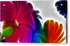 Acrylic Print featuring the digital art Happiness by Karen Showell