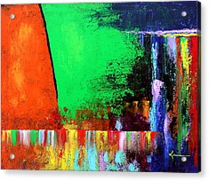 Acrylic Print featuring the painting Happiness by Kume Bryant
