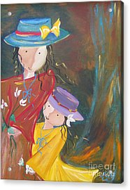 Acrylic Print featuring the painting Happiness by Nereida Rodriguez