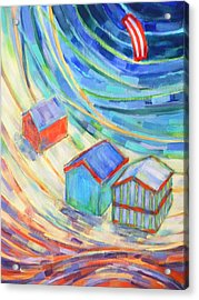 Happiness On Port Philip Bay 1 Acrylic Print by Zofia  Kijak