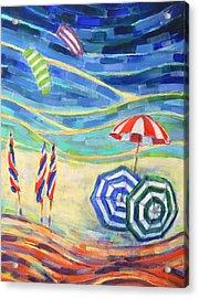 Happiness On Port Philip Bay 2 Acrylic Print by Zofia  Kijak