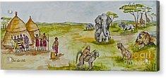 Happy Africa Acrylic Print