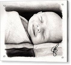 Happy Baby Acrylic Print by Rosalinda Markle