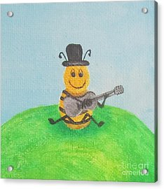 Happy Bee Acrylic Print
