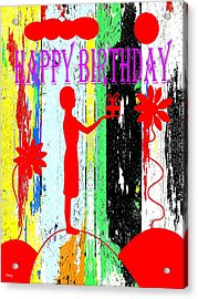 Happy Birthday 7 Acrylic Print by Patrick J Murphy