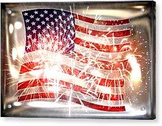 Happy Birthday America Acrylic Print by Li   van Saathoff