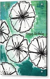 Happy Birthday- Floral Birthday Card Acrylic Print