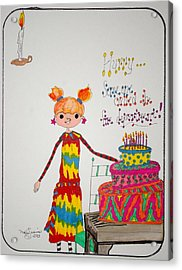 Happy Birthday Acrylic Print by Mary Kay De Jesus