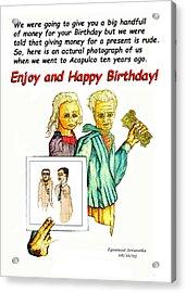 Happy Birthday Office Memo Employee Acrylic Print