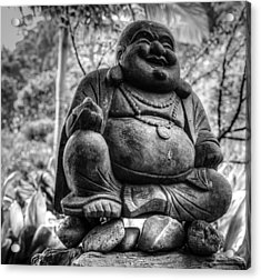 Acrylic Print featuring the photograph Happy Buddha by Cathy Donohoue
