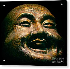 Happy Buddha Acrylic Print by Mark Miller