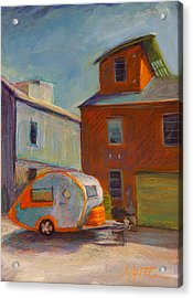 Happy Camper Acrylic Print by Athena  Mantle
