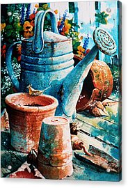 Happy Chores Acrylic Print by Hanne Lore Koehler