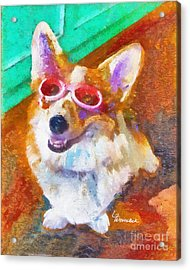 Acrylic Print featuring the painting Alameda Happy Little Cancer Survivor  by Linda Weinstock