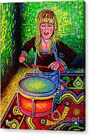 Happy Drummer Acrylic Print