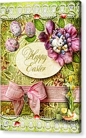 Happy Easter 2 Acrylic Print by Mo T