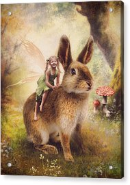 Happy Easter Acrylic Print by Cindy Grundsten
