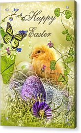 Happy Easter Acrylic Print by Mo T