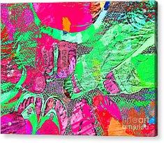 Happy Feet Abstract Photoart Acrylic Print by Debbie Portwood