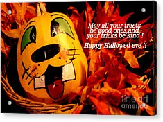 Happy Hallowed Eve Acrylic Print by Gary Brandes