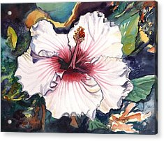 Acrylic Print featuring the painting Happy Hawaiian Hibiscus by Marionette Taboniar
