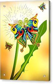 Happy Hippie Butterflies Acrylic Print by Bob Orsillo