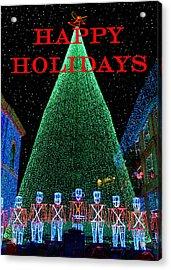 Happy Holidays Acrylic Print by David Lee Thompson