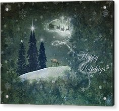 Happy Holidays Acrylic Print by Marie  Gale