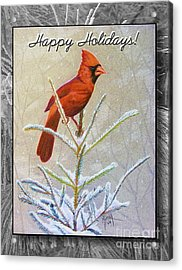 Happy Holidays Acrylic Print by Marilyn Smith