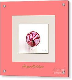 Happy Holidays. Poppy Acrylic Print by Oksana Semenchenko