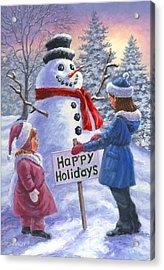 Happy Holidays Acrylic Print by Richard De Wolfe