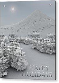 Happy Holidays Acrylic Print by Richard Rizzo