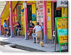 Happy Hour In Belize Acrylic Print