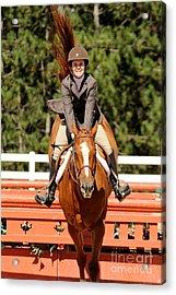 Happy Hunter Horse Acrylic Print