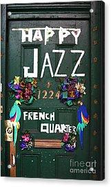 Happy Jazz Acrylic Print by John Rizzuto