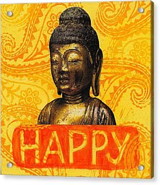 Happy Acrylic Print by Jennifer Mazzucco