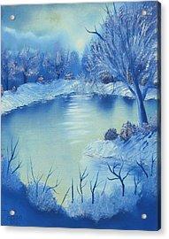 Happy Little Winterscape Acrylic Print by Ben Pogge