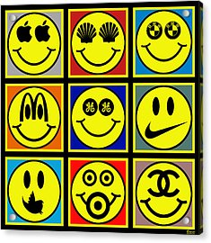 Happy Logos Acrylic Print by Tony Rubino