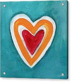 Happy Love Acrylic Print by Linda Woods