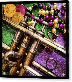 Happy Mardi Gras Acrylic Print by KG Thienemann