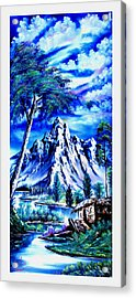 Happy Mountain  Acrylic Print by Shirwan Ahmed