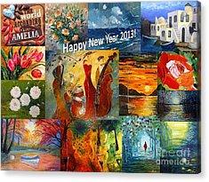 Happy New Year 2013 Acrylic Print by AmaS Art
