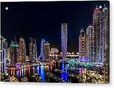 Happy New Year Dubai Acrylic Print by Vinaya Mohan