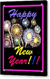 Happy New Year Acrylic Print by Irina Sztukowski